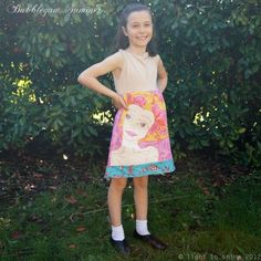 #ladybird2turtle #pinadayoct #tweengirl $136.00 Bubblegum Summer Girls Illustrated Dress Size 8 by lighttoshine on Handmade Australia