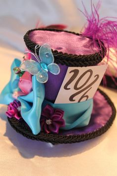 Mad Hatter Mini Top Hat Fascinator by OddLocks on Etsy