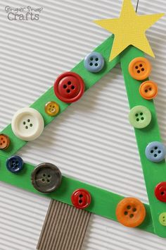 Christmas Kids Crafts Ideas and Inspiration to Create Your Life.by · on December 2017 · ·Christmas activities and crafts for kids. Simple kids crafts for pla Christmas Tree Decorations For Kids, Stick Christmas Tree, Christmas Crafts For Adults, Preschool Christmas, Christmas Activities, Kids Christmas, Christmas Tree Ornaments, Holiday Crafts, Holiday Decor