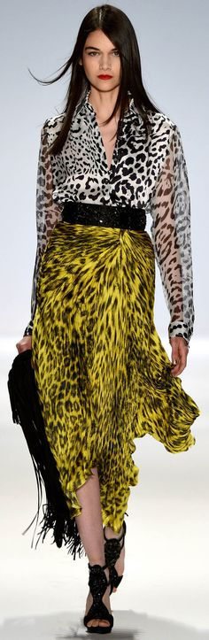#Carlos Miele Spring Summer 2013 Ready-To-Wear Collection #Trend Animal Print  #Trend Two pattern mix