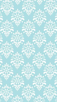 Damask Blue. Collection of Charming #Pattern iPhone Wallpapers   @mobile9 #cute #lovely