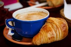 Pain au chocolat and cafe au lait...i's a good thing I don't live there and eat this for breakfast every morning.