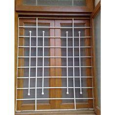 Ideas Metal Door Grill Window Bars For 2019 Home Window Grill Design, Iron Window Grill, Grill Gate Design, Window Grill Design Modern, House Window Design, Balcony Grill Design, Indian Window Design, Wooden Window Design, Steel Grill Design
