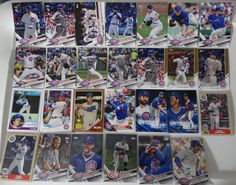 2017 Topps Update Cubs Master Team Set of 27 Baseball Cards W/ SP Variations #topps #ChicagoCubs