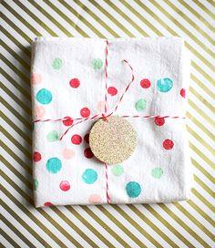 DIY handmade gift for kids | Potato stamped tea towels | 100 Layer Cakelet