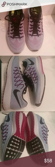 Nike Womens GUC Size 9.5 Baby Blue and Purple Zoom Pegasus 32 nike Shoes Athletic Shoes