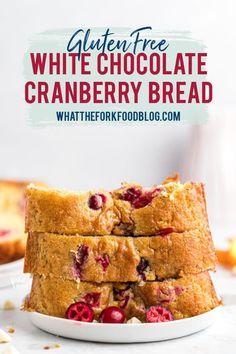 Gluten Free Coconut Cake, Gluten Free Baking, Gluten Free Desserts, Dessert Recipes, Bar Recipes, Brunch Recipes, Free Recipes, Cranberry Orange Bread, Cranberry Recipes