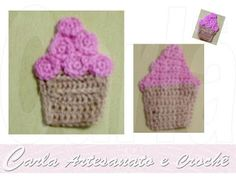 Carla Artesanato: Sorvete em crochet - imã