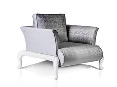 CANOPO Armchair with branded fabric by Samuele Mazza Outdoor Collection. Luxury outdoor furniture in synthetic wicker and rattan produced and distributed by DFN Srl. Suitable for garden, pool, wellness area, spa, patio, terrace, veranda, balcony, sundeck, courtyard, porch, lanai, boat, yacht and ship.