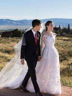 ashley williams wedding gown