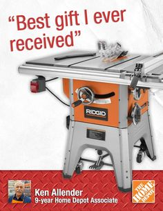 "Ken built a playhouse for his daughter using his table saw.""You can use this tool for so many types of cuts,"" he says. This table saw can accept attachments to turn it into a router, too. Want a gift for a DIYer, carpenter or woodworker? This is it. 