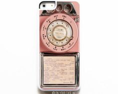 iPhone 5C Case. Vintage Pink Payphone. Case for iPhone 5C. Phone Case. Phone Cases.