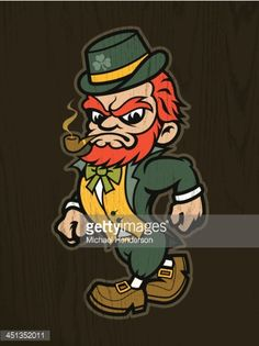 Fantasy Logo, New Fantasy, Leprechaun Tattoos, Crucifix Tattoo, Canvas Painting Quotes, Irish Symbols, Irish Tattoos, Irish Leprechaun, Irish Pride
