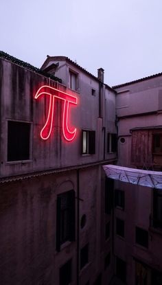 Neon light installation by Paolo Cesaretti and Antonella Dedini