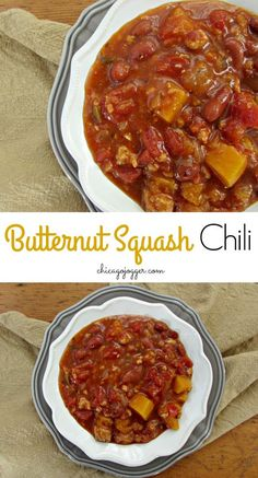Butternut Squash Chili - the best healthy winter dinner recipe | chicagojogger.com