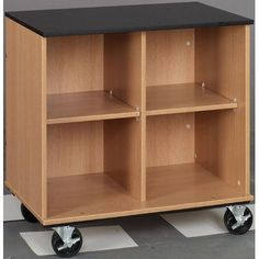 Stevens ID Systems Science Lab Cart Color: Western Iron, Finish: Medium Oak