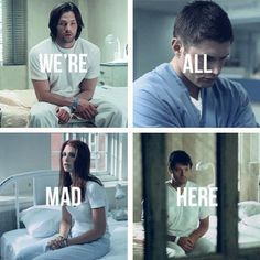 Supernatural ~ This is what happens after u join the Supernatural fandom. Sam, Dean, Anna, and Cas.