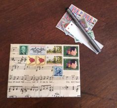 Musical Envelope US Mint Postage with Musical by postalpatchwork, $4.00