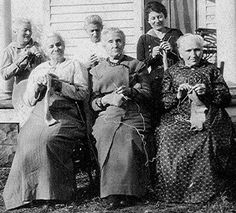 All Knitting - NOT sewing as the original caption said ... 19C American Women: Photo Archives -- American Women Sewing