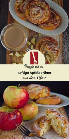 juicy apple berlin from the oven - Prep & Cook Rezepte - French Recipes Easy Donut Recipe, Donut Recipes, Krups Prep&cook, Prep & Cook, Chocolate Donuts, Muffins, French Food, Decoration Table, Cooking Light