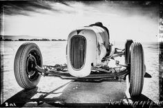 12x18 in. Poster Black and White Hot Rod Ford Lakebed Roadster, Garage Art