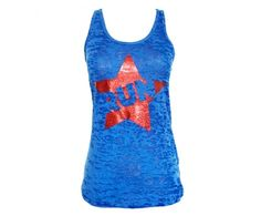 """Run Superstar Tank. Sparkle Athletic's """"Run Superstar"""" burnout racer back tank top is extremely comfortable and the perfect tank to wear when heading out on a run or even to rock during a race."""