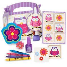 Owl Blossom 4-pk. Filled Party Favor Box Set, Multicolor