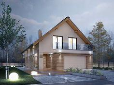 Amarylis 5 (152,60 m2) to dom na wąską działkę z garażem na 2 stanowiska. Pełna prezentacja projektu znajduje się na stronie: https://www.domywstylu.pl/projekt-domu-amarylis_5.php. #projekty #projekt #domywstylu #mtmstyl #dom #domy #projektygotowe #domzpoddaszem #architecture #architektura