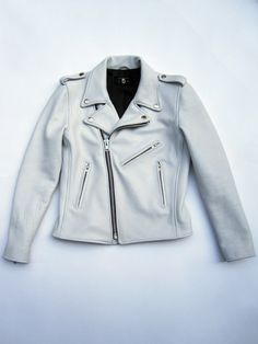THE CAST — Womens White Motorcycle Jacket d9d30003f5