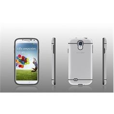 Samsung Galaxy S4 Kinnect Rubber Trim Case   Screen Protector (Frost/Gray)