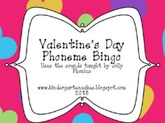 Valentine's Day Phoneme Bingo - Kinder Cakes - TeachersPayTeachers.com