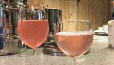 Rabarbrasaft to varianter - råsaft og kokesaft av avfallet