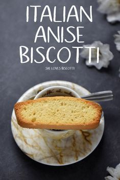 This family recipe for Italian Anise Biscotti will provide you with a texture that is slightly spongy on the inside and crispy on the outside. It really doesn't get any easier than this Authentic Italian Anise Biscotti. Italian Biscotti Recipe, Almond Biscotti Recipe, Italian Cookie Recipes, Italian Cookies, Italian Desserts, Shortbread, Biscotti Cookies, Almond Cookies, Chocolate Cookies
