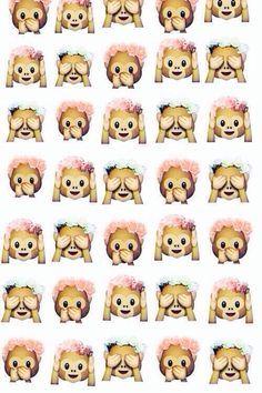 Monkeys! -wallpaper -emoji -background -iPhone -cute