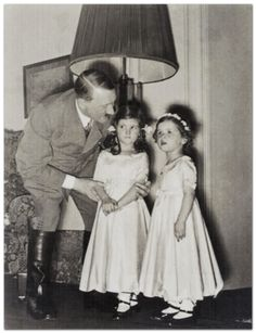 Another shot of Helga and Hilde paying Uncle Adolf a visit on his birthday.