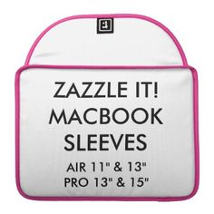 """Custom Personalized 13"""" MacBook Pro Laptop Sleeve - create your own gifts personalize cyo custom"""