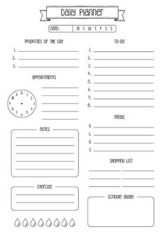 Best No Cost daily planner imprimible Thoughts Paper planners are effective only if you are using them properly and regularly. Below are a few ways