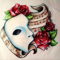 Phantom of the Opera by Danniichan via Deviantart