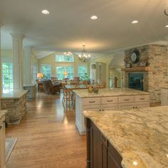 Kitchen Photos Fireplace Design, Pictures, Remodel, Decor and Ideas - page 16