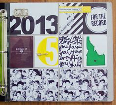 my thoughts on project life + 2013 cover page + a freebie! | icreate...with love
