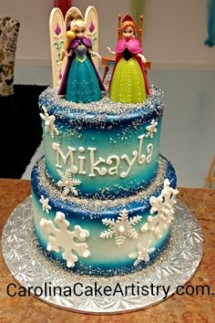 """Another cute """" Frozen"""" cake!"""