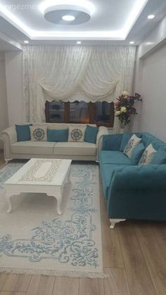 Country inspired, bright and peaceful house: Neslihan Ladies House. … Oturma Odası – home accessories Interior Ceiling Design, House Ceiling Design, Ceiling Design Living Room, Bedroom False Ceiling Design, Home Room Design, Living Room Interior, Home Living Room, Living Room Designs, Living Room Decor
