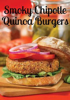 Smoky Chipotle Quinoa Burgers (gluten free) | Bob's Red Mill