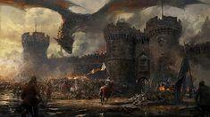 Medieval Fantasy Castle Art 2
