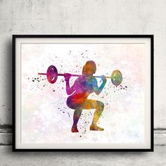 Body buiding woman 01  Fine Art Print Glicee Poster by Paulrommer