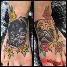 yoda-boss-foot-pug-tattoo-on-kp-by-leonie-new-at-voodoo-ink-in-st-kilda-melbourne-aus.jpg (429×429)