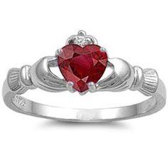 Silver Ring Claddagh w/ Ruby CZ (Jewelry)  http://www.amazon.com/dp/B007R6MU7Q/?tag=iphonreplacem-20  B007R6MU7Q