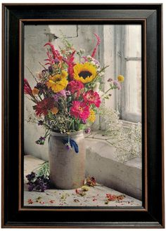 Country Crock with Flowers