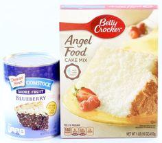Blueberry Angel Food Cupcakes! {2 Ingredients}