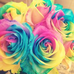I would love someone to get me RAINBOW roses <3